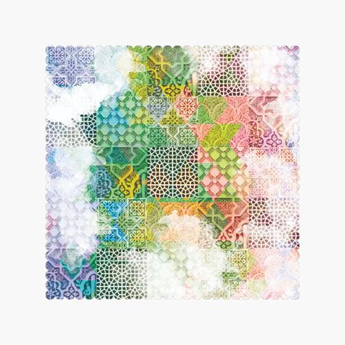 رومیزی اسلیمی رنگی